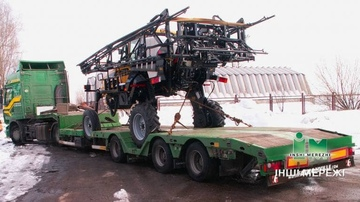 Transportation of agricultural machinery