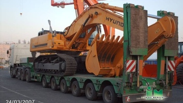 Transporting oversized and extra-heavy loads