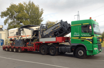 Transportation of oversized equipment